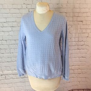 Motherhood Maternity periwinkle cable knit sweater